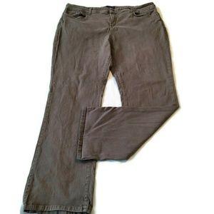 Flaw NYDJ gray denim jeans 22w boot cut slimming